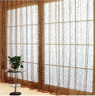 Yarn Window Tulle Curtains Window Voile Curtains for Living Room Kitchen