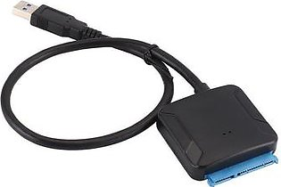 """Black USB 3.0 to SATA adapter converter cable 22pin sataIII to USB3 adapters for 2.5 """"3.5"""" sata HDD SSD"""