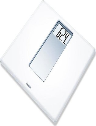 PS 160 - Large LCD display Bathroom Scale - White