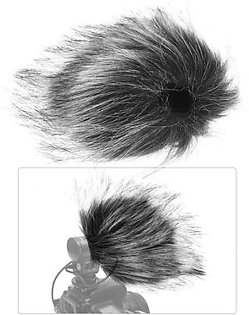 6.5cm*11.5cm Grey Microphone Furry Windscreen Fur Windshield Wind Muff for RODE VideoMicro for Shenggu SG107 SG109 and Other Short Size Recording Mic(Approx. 6.5cm Length)