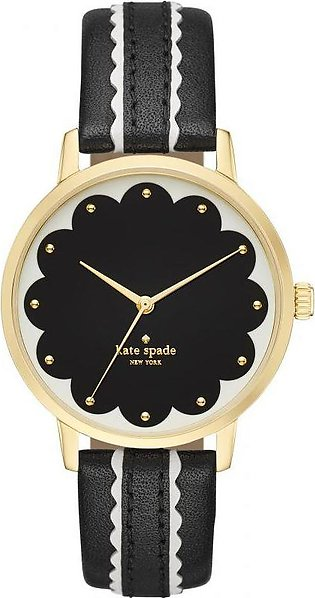 Kate Spade New York Metro Scalloped Leather Strap Watch for Women-KSW1001