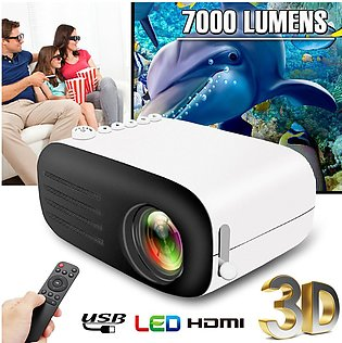 800 Lumens Portable Mini 1080P HD Video Projector LED Home Theater Cinema USB...