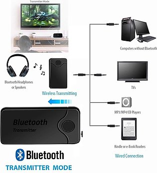 Wireless 2 in 1 B6 Audio And Bluetooth Transmitter