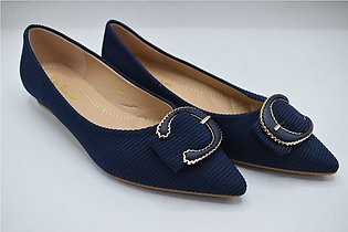 Ladies Fancy Medicated Shoes In Color Navy Blue Article 304