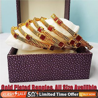 6 Bangles ⭐- Gold Plated Chore - Pack of 6