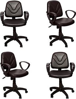 Set of 4 - Executive Office Chair - Dark Brown