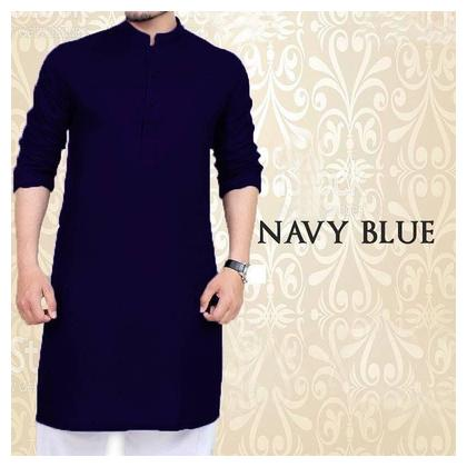 Navy Blue Kurta With Pajama For men