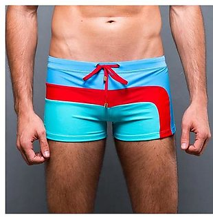 Mens Boys Swimming Trunks Boxer Briefs Underwear Shorts Elastic Swimwear Pants