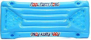 Inflatable Beer Pool Pong Float Table Raft Lounge Party Game 24 Cup Holder blue
