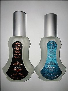 2 bottles perfume of alkohl free pure black and shalis of 30 ml each