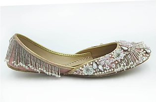 Milli Shoes - Peach Ladies Fancy Khussa - 7690