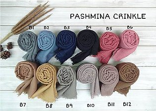 Pack of 12 Cotton Crinkle Hijab Head scarf shawl wrap for women crinkle scarf p…