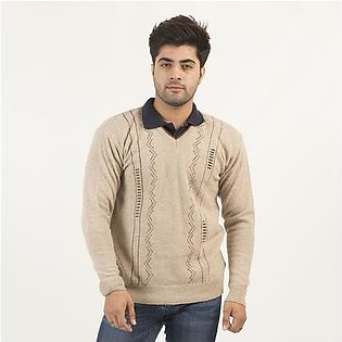 Oxford Lamswool Pullover For Men