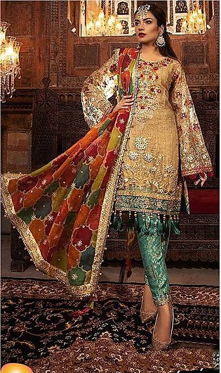 Net Embriodered  suit for women- Unstiched