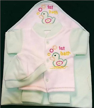 Winter Dress Pack Of 2 - Baby Suit Unisex Cap is Just In 0 to 3 months Size