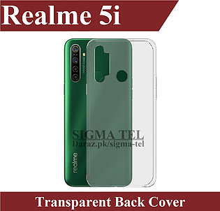 Realme 5i Transparent Back Cover High Quality Soft Crystal Clear Case For Realm…