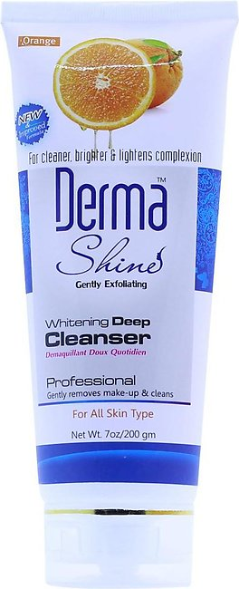 Derma Shine - Whitening Deep Cleanser - Orange Extracts - For All Skin Type -...