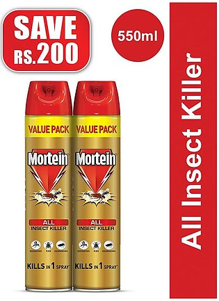 Pack of 2 Mortein Insta All Insect Killer Spray 550ml