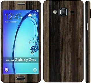 Samsung Galaxy On5 2015 Brown Stripped Wooden Texture Mobile  Skin