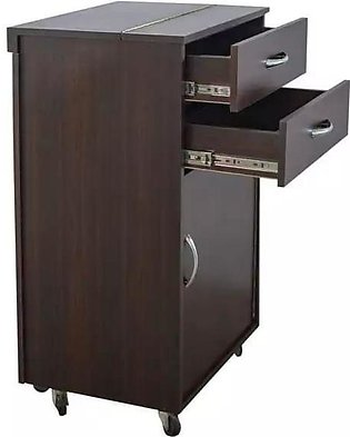 Iron Stand Folding with storage cabinet.
