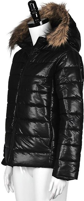 Fur Fashion Collar New Winter Down Women's Cotton Parka Short Quilted Hooded ...