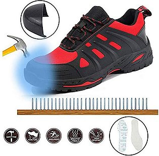 Couple Fahion Fly Woven Safety Shoes Anti-Smashing Anti-Piercing Work Shoes