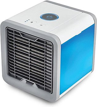 Mini Air Conditioner Cooler with 7 Colors LED Lights Humidifier - white