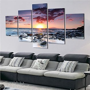 High-end art micro-spray home restaurant living room porch oil painting five se…