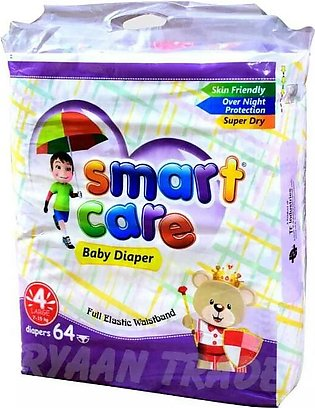Smart care Baby Diapers size 4 Large size Jumbo pack 64pcs