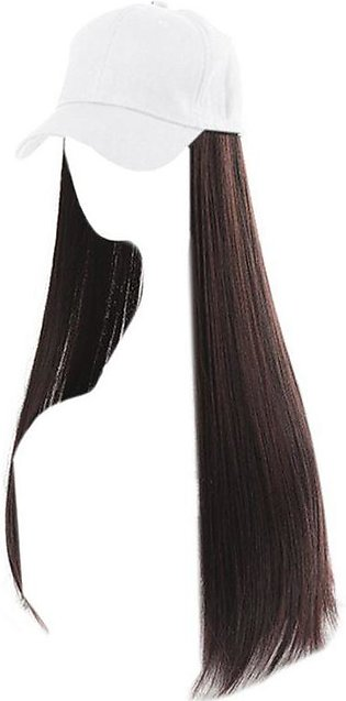 Women Girl Wig Hat Baseball Cap with Synthetic Hair Extension Long Straight Wig…