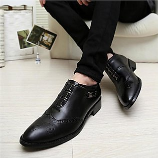 Spring British fashion men's pointed small shoes Korean hair stylist business...