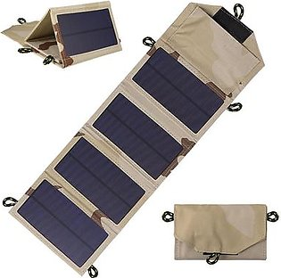 7W Foldable Solar Charger Certified Sun Power Panel Portable Power Source for Cell Phone Tablet PC Power Bank