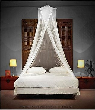 Mosquito Net Bed-White