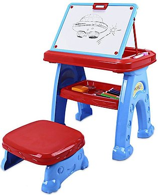 22088 - 11 Projector Toys Kids Drawing Board with Tools