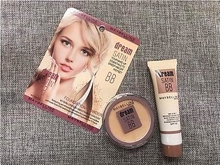 2 in 1 Maybelline New York Dream Satin BB Foundation & Fit Me Powder - 03 Beige