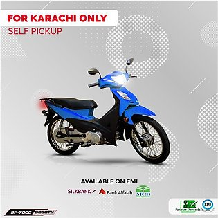 Super Power Scooty 70cc Blue (Karachi Only) 7-10 working days