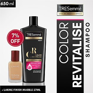 Get 7% off on Tresemme Shampoo COLR REVITALZE 650 ML +  Lakhme Natural Marble...