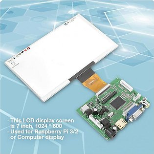"7"" inch TFT LCD Display Module w/HDMI+VGA AV Driver Board for Raspberry PI 3 2"