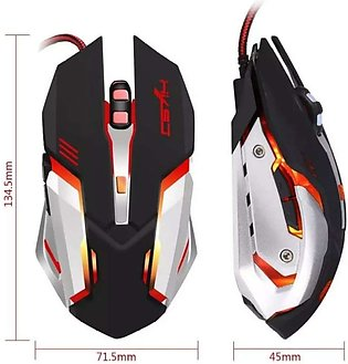 T02 2400DPI PRO 7 COLOR BACKLIGHT GAMING MOUSE – BLACK