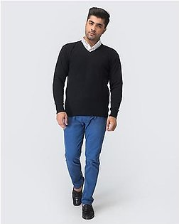 Oxford Lambswool Plain Pullover For Men