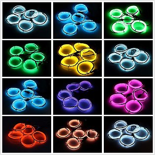 SOLMORE Neon LED Strobe Light EL Wire String Strip Rope Tube Dance Party Decor