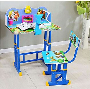 High Quality Desk & Chair Set for Boy/Girl Cartoon Pattern Student Table with S…