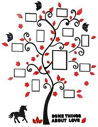 3 D Acrylic Photo Frame Tree Wall Sticker Living Room Bedroom Wall Decals