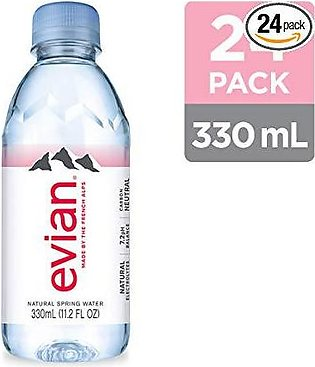 Pack Of 24 : Evian Naturally Pure Drinking Water - 330 ml