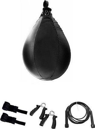 Boxing Leather Speed Ball ,Hand Grippers, Hand wrap , Jump Rope,