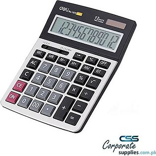 12-Digit Modern Calculator - 1672 - Grey