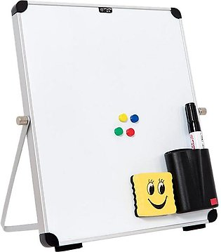 Small Desktop Dry Erase Board Portable Small Magnetic Double Sided Whiteboard E…
