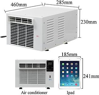 Loveliness 700W Window Wall Box Refrigerated Air Conditioner Portable Cooling Heating Timing USB Dehumidification