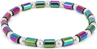 Women Lady Plated Layer Faux Pearl Decoration Ankle Barefoot Bracelet Chain