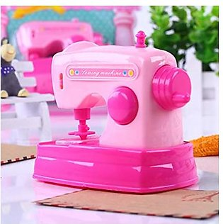 Mini Portable Sewing Machine Toy For Kids - Red